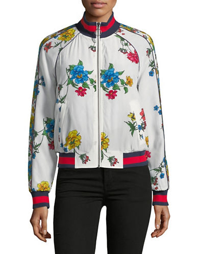 Joie Avariella Floral Silk Bomber-PORCELAIN-Large