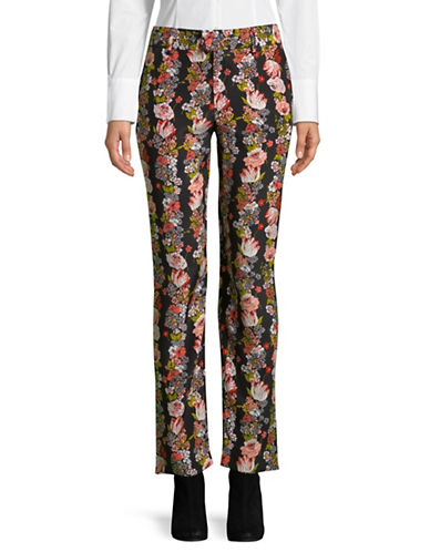 Equipment Florence Botanical Garden Silk Trousers-BLACK-Medium