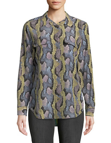 Equipment Silk Serpentine Blouse-MULTI-Large