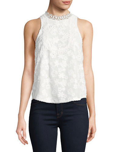 Joie Rayce Floral Tank-PORCELAIN-X-Small