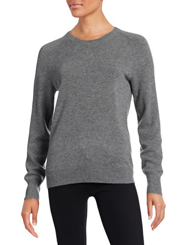 Equipment Cashmere Crew Neck Sweater-GREY-Small