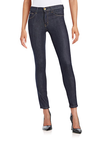 Current Elliott High Waist Ankle Skinny Jeans-DARK WASH-25