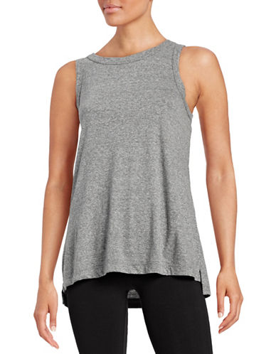 Current Elliott Heathered Muscle Tee-GREY-3