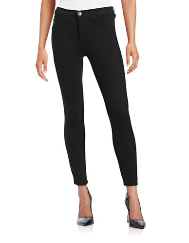 Current Elliott High Waist Stiletto Skinny Jeans-BLACK-27