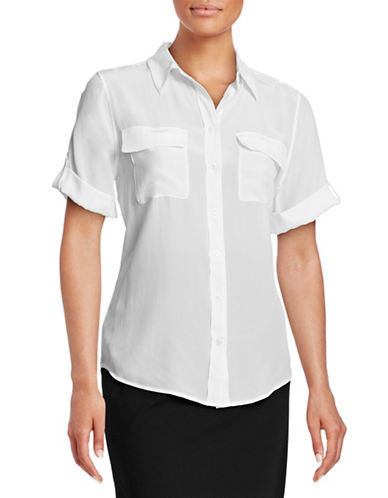Equipment Silk Button-Up Shirt-WHITE-Medium