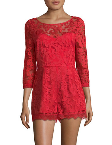 Rsvp By Bb Dakota Lace Romper-RED-4