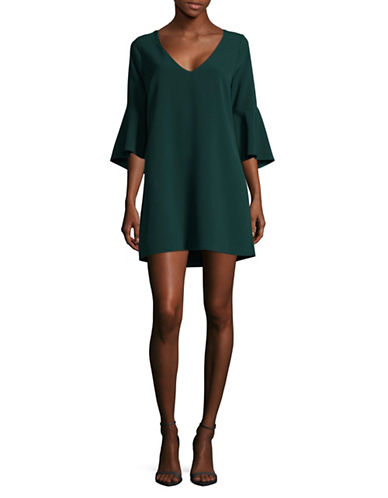 Rsvp By Bb Dakota Crepe Bell Sleeve Dress-GREEN-0