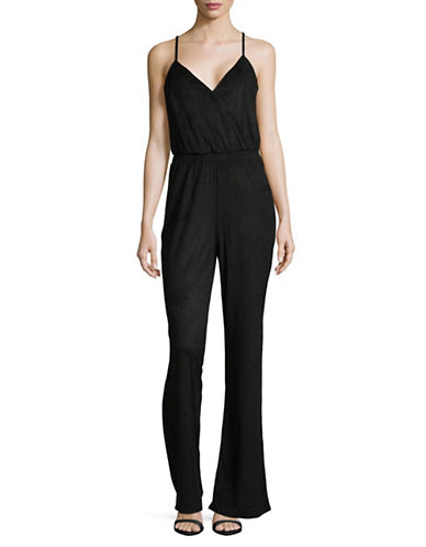 Jack By Bb Dakota Strappy Bell-Bottom Jumpsuit-BLACK-Large