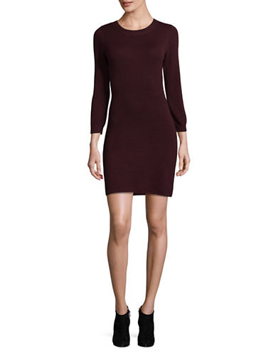 Jack By Bb Dakota Side Slit Sweater Dress-RED-Medium