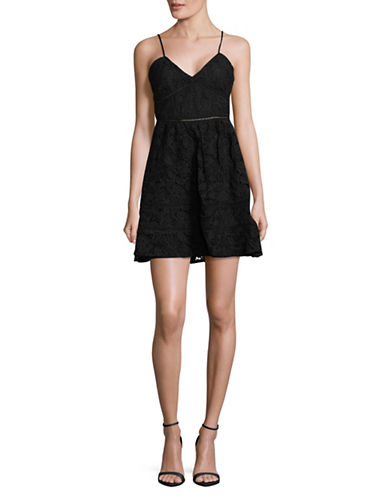 Bb Dakota Lace Fit-and-Flare Dress-BLACK-2
