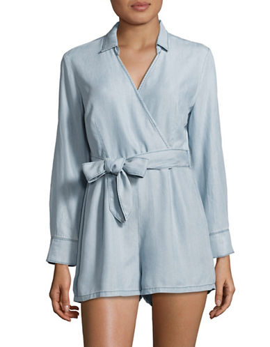 Bb Dakota Carlisle Denim Tencel Romper-BLUE-4