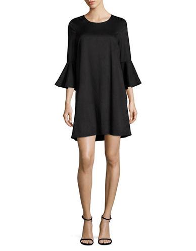 Jack By Bb Dakota Flounce Sleeve Shift Dress-BLACK-Medium