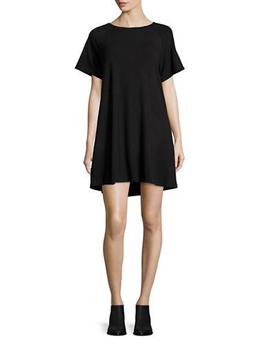Bb Dakota Solid T-Shirt Dress-BLACK-X-Small