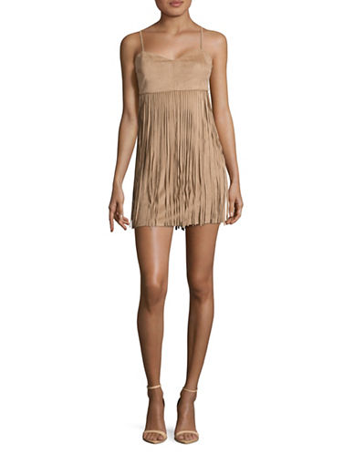 Jack By Bb Dakota Fringed Camisole-KHAKI-0