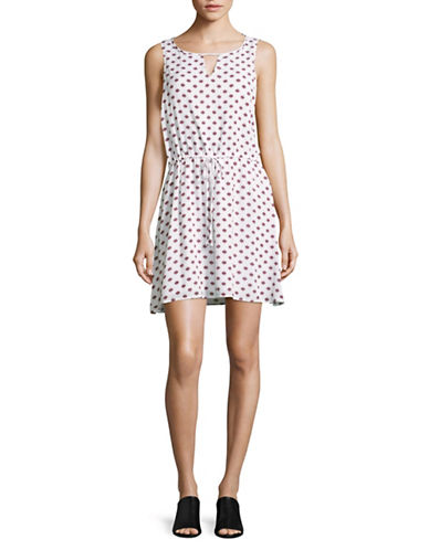 Jack By Bb Dakota Printed Sleeveless A-Line Dress-BRIGHT WHITE MULTI-Medium