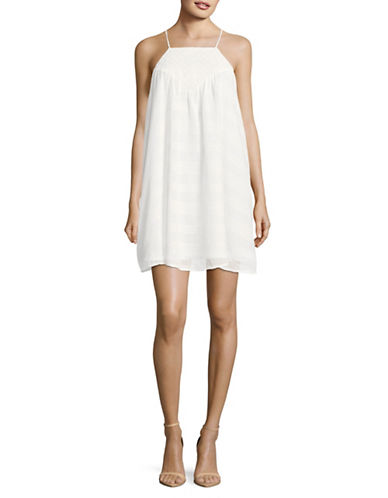Jack By Bb Dakota Striped Cotton Dress with Eyelet Yoke-WHITE-X-Small