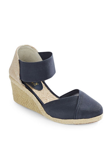 Lauren Ralph Lauren Espadrille Wedge Sandals-NAVY BLUE-8