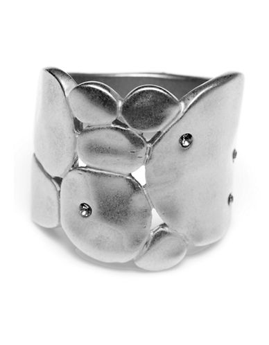 Kenneth Cole New York Silver Round Sculptural Ring-SILVER-7