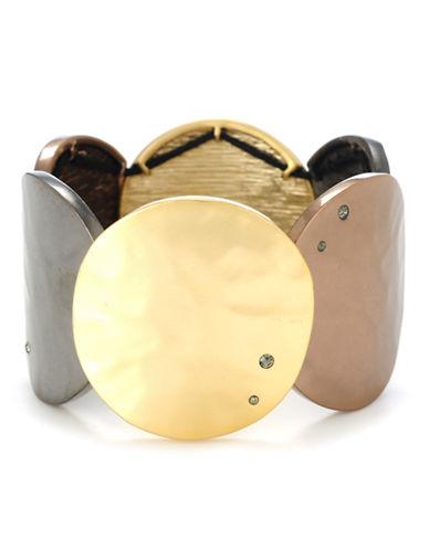 Kenneth Cole New York Tri Tone Circle Stretch Bracelet-TRI COLOUR-One Size