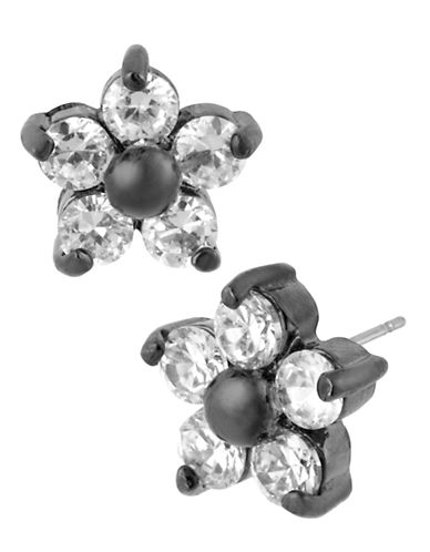 Betsey Johnson Crystal Flower Stud Earring-CRYSTAL-One Size