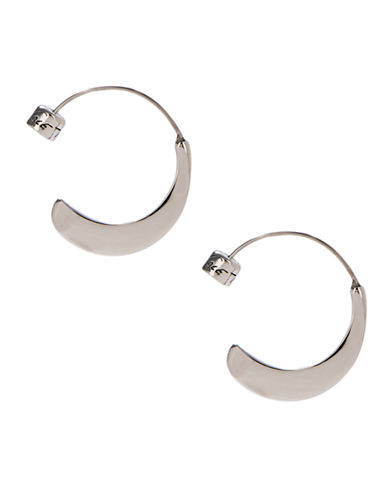 Kenneth Cole New York Small Sculptural Hoop Earring-SILVER-One Size