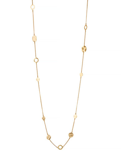 Kenneth Cole New York Gold Circle Long Illusion Necklace-GOLD-One Size