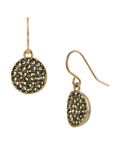 Kenneth Cole New York Pave Circle Drop Earring-GOLD-One Size