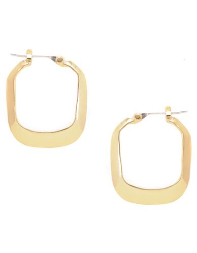 Kenneth Cole New York Small Rectangle Hoop Earring-GOLD-One Size