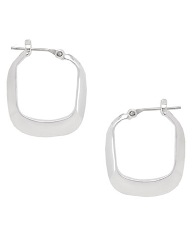 Kenneth Cole New York Small Rectangle Hoop Earring-SILVER-One Size