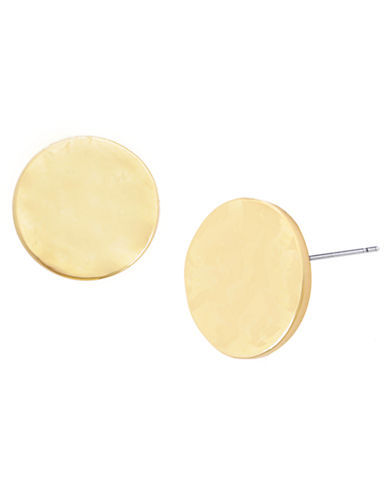 Kenneth Cole New York Hammered Stud Earrings-GOLD-One Size