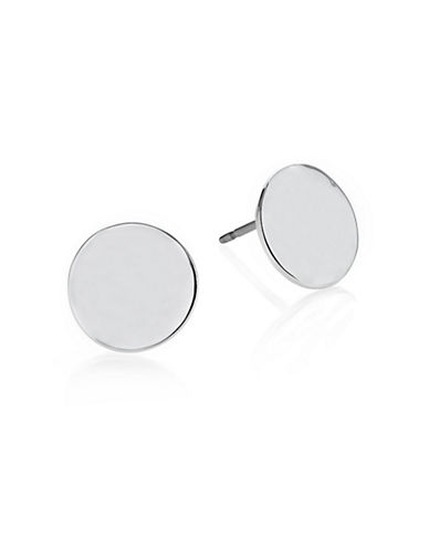 Kenneth Cole New York Hammered Stud Earrings-SILVER-One Size