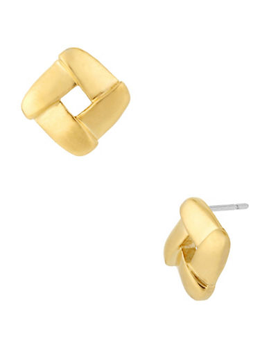 Kenneth Cole New York Gold Square Stud Earring-GOLD-One Size