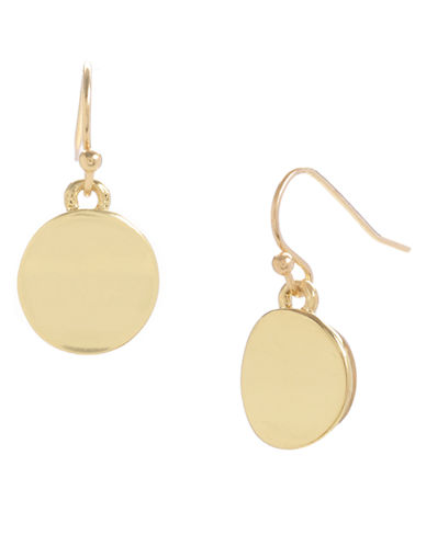 Kenneth Cole New York Small Circle Drop Earring-GOLD-One Size