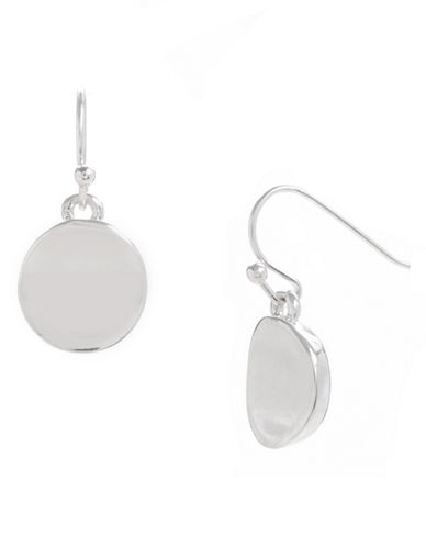 Kenneth Cole New York Small Circle Drop Earring-SILVER-One Size