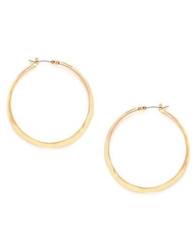 Kenneth Cole New York Textured Hoop Earring-GOLD-One Size