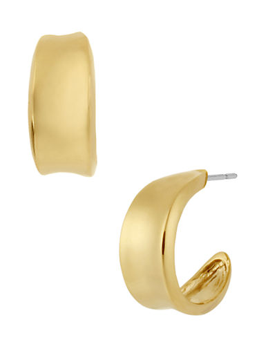 Robert Lee Morris Soho Small Sculptural Hoop Earring-GOLD-One Size