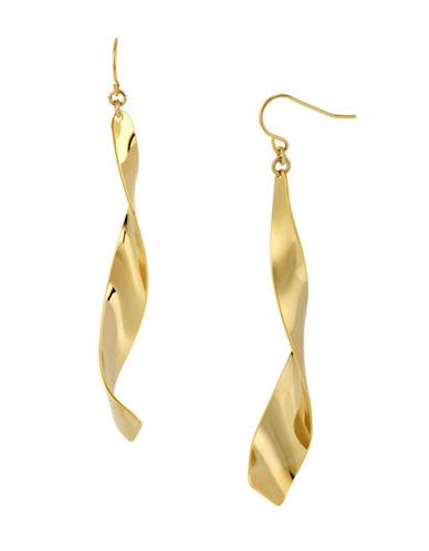Robert Lee Morris Soho Linear Twist Earring-GOLD-One Size