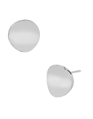 Robert Lee Morris Soho Concave Round Stud Earring-SILVER-One Size