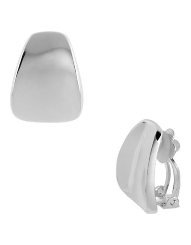 Robert Lee Morris Soho Wide Wedge Clip-On Earring-SILVER-One Size