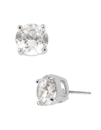 Kenneth Cole New York Small Crystal Stud Earring-CRYSTAL SILVER-One Size
