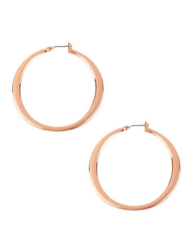 Kenneth Cole New York Rose Gold Medium Sculptural Hoop Earring-ROSE GOLD-One Size