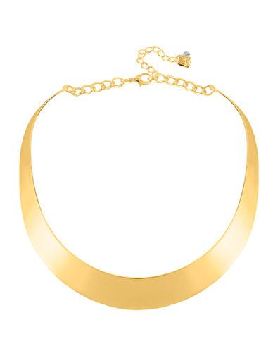 Robert Lee Morris Soho Gold Half Moon Collar Necklace-GOLD-One Size
