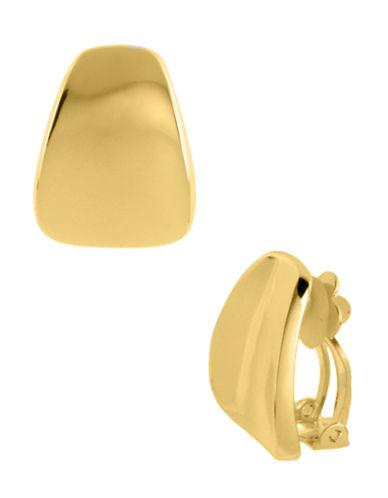 Robert Lee Morris Soho Wide Wedge Clip-On Earring-GOLD-One Size