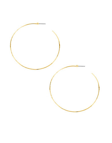 Robert Lee Morris Soho Hammered Wire Hoop Earrings-GOLD-One Size