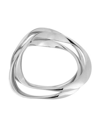 Robert Lee Morris Soho Silver Wavy Bangle Bracelet Set-SILVER-One Size