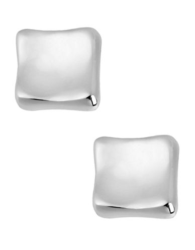 Robert Lee Morris Soho Silver Square Stud Earring-SILVER-One Size