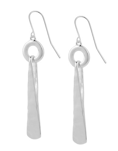 Robert Lee Morris Soho Silver Circle and Triangle Drop Earring-SILVER-One Size