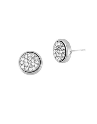 Kenneth Cole New York Pave Circle Stud Earrings-NATURAL-One Size
