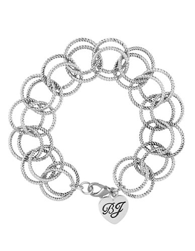Betsey Johnson Circle Link Bracelet-SILVER-One Size