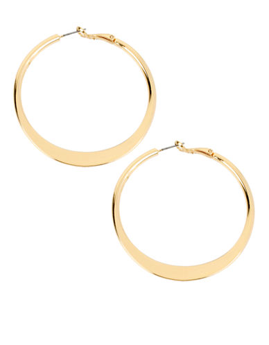 Kenneth Cole New York Sculptural Hoop Earring-SHINY GOLD-One Size